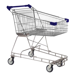 100 Litre Blue Supermarket Shopping Trolley Cart - T100-ZSSSS20220.jpg