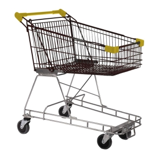 100 Litre Nylon - Supermarket Shopping Trolley Yellow - T070-NSSSS60660.jpg