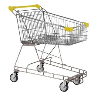 100 Litre Yellow Supermarket Shopping Trolley Cart - T100-ZSSSS60660.jpg