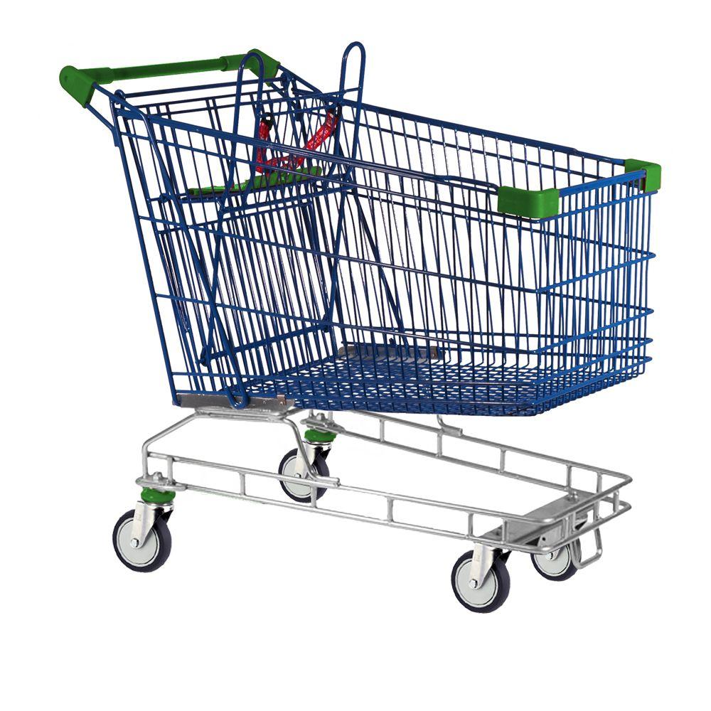 shopping trolleys on wheels