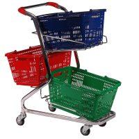 20 Litre Shopping 3 Basket Trolley Cart - T020-ZSSSS10000.jpg