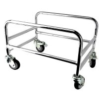 Chrome Plated Shopping Basket Holder - BSK-B331.JPG