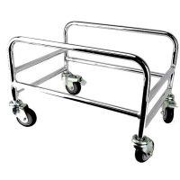Chrome Plated Shopping Basket Holder - BSK-B331.JPG