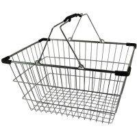 Chrome Plated Wire Shopping Basket - BSK-031L-BLK.jpg