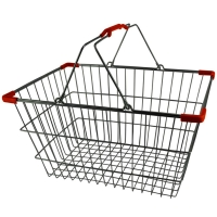 Chrome Plated Wire Shopping Basket - BSK-031L-RED.jpg