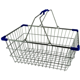 Chrome Plated Wire Shopping Basket - BSK-031M-BLU.jpg