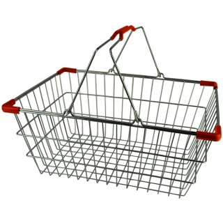 Chrome Plated Wire Shopping Basket - BSK-031M-RED.jpg