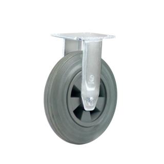 Heavy Duty Castor (RIGID Plate, GREY Solid Rubber)- HZF20050-GPR.JPG