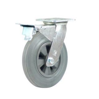 Heavy Duty Castor (Swivel Plate+Brake, Solid GREY Rubber)- HZNT20050-GPR.JPG