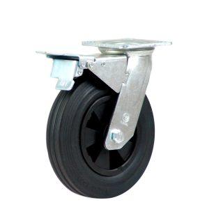 Heavy Duty Castor (Swivel Plate+Brake, Solid Rubber)- HZNT20050-BKPR.JPG