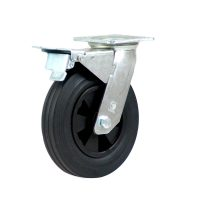 Heavy Duty Castor (Swivel Plate+Brake, Solid Rubber)- HZNT20050-BKPR.JPG