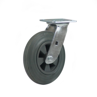 Heavy Duty Castor (Swivel Plate, Grey Solid Rubber)- HZN20050-GPR.JPG