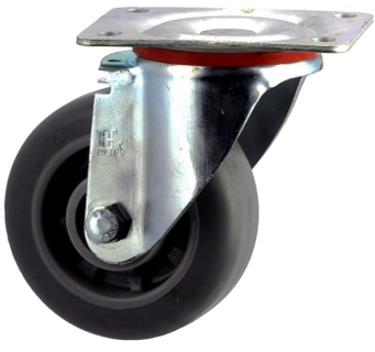Heavy Duty Swivel Castor With Thermoplastic Elastomer Wheel - SZS12550-TPB.jpg
