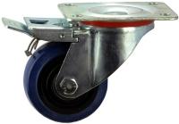 Heavy Duty Swiveling Caster With Blue Rubber Wheel - SZST10050-BPB.jpg
