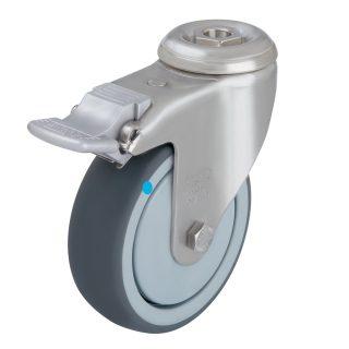 Light Duty SS Swivel Braking Castor (Bolt Hole TPE Wheel)- LRXA-TPA75G.jpg