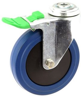 MEDIUM DUTY ZINC PLATED BOLT HOLE CASTER BLUE RUBBER LOCK - MZHD12532-BPB.jpg