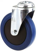 MEDIUM DUTY ZINC PLATED BOLT HOLE CASTER BLUE RUBBER WHEEL - MZH12532-BPB.JPG