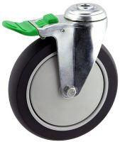 MEDIUM DUTY ZINC PLATED BOLT HOLE CASTER POLYURETHANE BRAKE - MZHD15032-UPB.jpg