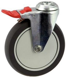 MEDIUM DUTY ZINC PLATED BOLT HOLE CASTER PU TOTAL BRAKE - MZHT15032-UPB.jpg