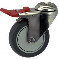 Medium Duty Bolt Hole Mount Castor With Brake - MSHT12532-UPB.jpg