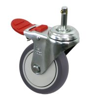 Medium Duty Castor (Grip Neck+BRAKE, TPE)- MZ4GT10032-TPB.jpg