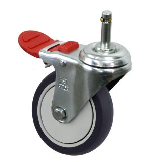 Medium Duty Castor (Grip Neck+BRAKE, URETHANE)- MZ4GT10032-UPB.jpg