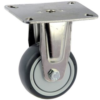 Medium Duty Stainless Steel Rigid Plate Mount Castor - MSR07532-TPB.jpg