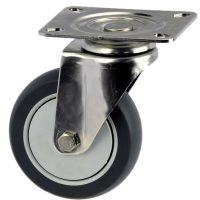 Medium Duty Stainless Steel swivel Plate Mount Caster -MSS10032-TPB.JPG