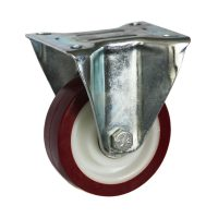 Medium Duty Steel Castor (RIGID PLATE, PU Wheel) -DZR10036-UNB.jpg