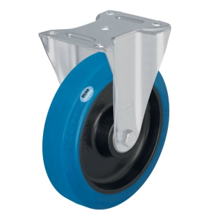 Medium Duty Steel Castor (RIGID Plate, Blue Tyre) - B-POEV125K-SB.jpg