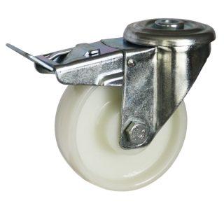 Medium Duty Steel Castor (SWL Bolt Hole+BRAKE, NYLON Wheel) -DZHT10036-NNP.jpg