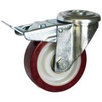 Medium Duty Steel Castor (SWL Bolt Hole+BRAKE, PU Wheel) -DZHT10036-UNB.JPG