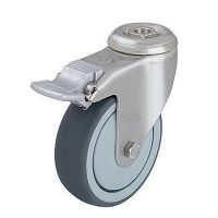 Medium Duty Steel Castor (Swivel Plate+Brake, TPE Whl) - LKRA-TPA126K-FI-FK.jpg
