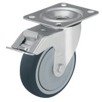 Medium Duty Steel Castor (Swivel Plate+Brake,TPU WHEEL) - LE-PATH200K-FI.jpg