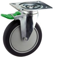 Medium Duty Swivel Castor With Directional Lock Brake - MZSD15032-TPB.JPG