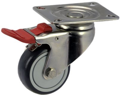Medium Duty Swivel Plate Mount Caster With Brake - MSST07532-UPB.jpg