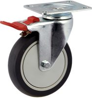 Medium Duty Swivel Plate Mount Caster With Total Brake - MZST12532-UPB.jpg
