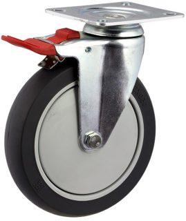 Medium Duty Swivel Plate Mount Castor With Total Brake - MZST15032-TPB.jpg