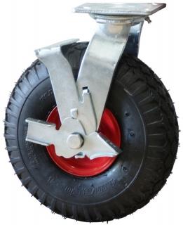 Plate Mount Brake P Series Castor Foam Filled Wheels - PZNW350X4-FS.jpg