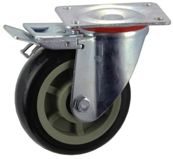 Pressed Steel Frame Zinc Plated Caster With Brake - SZST15050-UPB.jpg