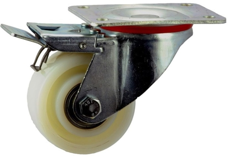 Pressed Steel Frame Zinc Plated Caster with Nylon Wheel - SZST10050-NNB.jpg