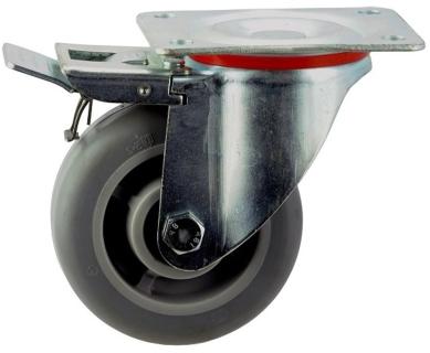 Pressed Steel Frame Zinc Plated Castor With Brake - SZST12550-TPB.jpg