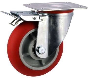 Pressed Steel Frame Zinc Plated Castor With Brake - SZST15050-UPRB.jpg