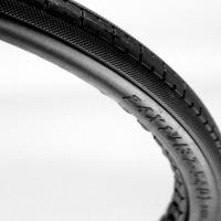 Solid PU Foam Express-B Tyre - P173 Black Tread.JPG