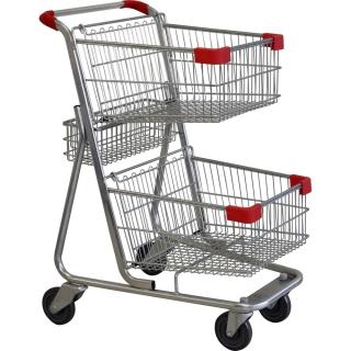 Twin Basket Red Shopping Trolley - W222-ZSSSS10100.jpg