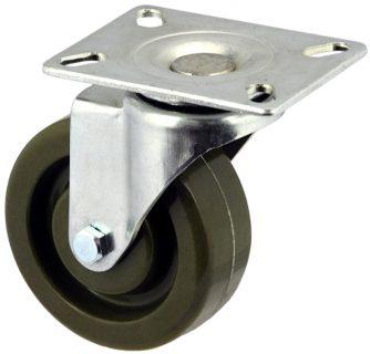Zinc Plated Swivel Caster With High Temp Phenolic Wheel - MZS10040-EEB.JPG
