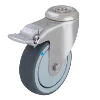 Light Duty SS Swivel Castor + Brake(Bolt Hole TPE Wheel)- LKRXA_TPA_101KD_FI.jpg