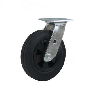 Heavy Duty Castor (Swivel Plate, Solid Rubber)- HZN20050-BKPR.JPG