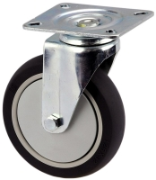 MEDIUM DUTY SWIVEL PLATE MOUNT CASTOR WITH POLYURETHANE WHEEL - MZS12532-UPB.jpg