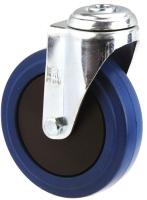 MEDIUM DUTY ZINC PLATED BOLT HOLE CASTER BLUE RUBBER WHEEL - MZH12532-BPB.JPG
